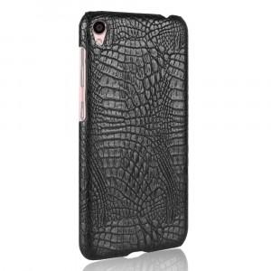 Чехол накладка текстурная отделка Кожа Крокодила для Asus ZenFone Live Черный