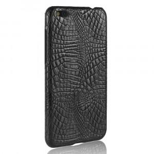 Чехол накладка текстурная отделка Кожа Крокодила для Xiaomi Mi5C Черный