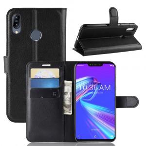 Чехол портмоне подставка на силиконовой основе с отсеком для карт на магнитной защелке для ASUS ZenFone Max Pro M2
