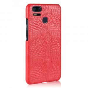 Чехол накладка текстурная отделка Кожа Крокодила для Asus ZenFone 3 Zoom Красный