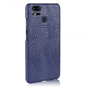 Чехол накладка текстурная отделка Кожа Крокодила для Asus ZenFone 3 Zoom Синий