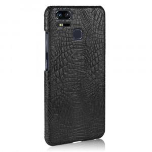 Чехол накладка текстурная отделка Кожа Крокодила для Asus ZenFone 3 Zoom Черный