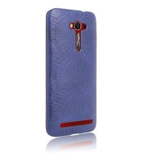 Чехол накладка текстурная отделка Кожа Крокодила для ASUS Zenfone 2 Laser Синий