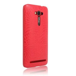 Чехол накладка текстурная отделка Кожа Крокодила для ASUS Zenfone 2 Laser Красный