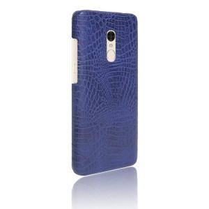 Чехол накладка текстурная отделка Кожа Крокодила для Xiaomi RedMi Note 4 Синий