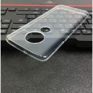 Силиконовый глянцевый транспарентный чехол для Motorola Moto G7