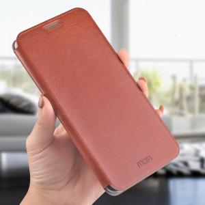 Чехол горизонтальная книжка на силиконовой основе для Xiaomi RedMi Note 7  Коричневый