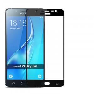 Полноэкранное ультратонкое износоустойчивое сколостойкое олеофобное защитное стекло-пленка для Samsung Galaxy J5 (2016)  Черный