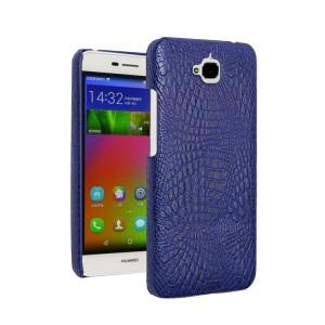 Чехол накладка текстурная отделка Кожа Крокодила для Huawei Honor 4C Pro Синий