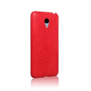 Чехол накладка текстурная отделка Кожа Крокодила для Meizu MX5 Красный