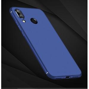 Силиконовый матовый непрозрачный чехол для Xiaomi RedMi Note 7  Синий