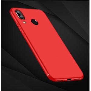 Силиконовый матовый непрозрачный чехол для Xiaomi RedMi Note 7  Красный