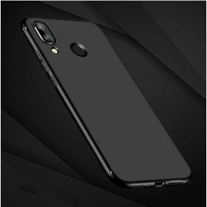Силиконовый матовый непрозрачный чехол для Xiaomi RedMi Note 7  Черный