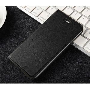 Чехол флип подставка текстура Линии на пластиковой основе с отсеком для карт для Iphone 6/6s Черный