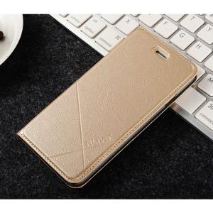 Чехол флип подставка текстура Линии на пластиковой основе с отсеком для карт для Iphone 6/6s Бежевый