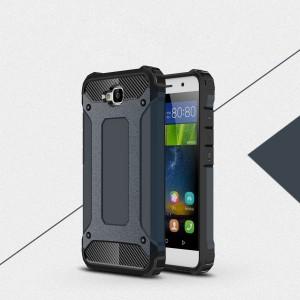 Двухкомпонентный силиконовый матовый непрозрачный чехол с поликарбонатными бампером и крышкой для Huawei Honor 4C Pro Синий