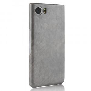 Чехол накладка текстурная отделка Кожа для BlackBerry KEYone Серый