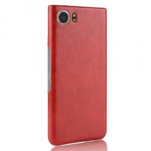 Чехол накладка текстурная отделка Кожа для BlackBerry KEYone Красный