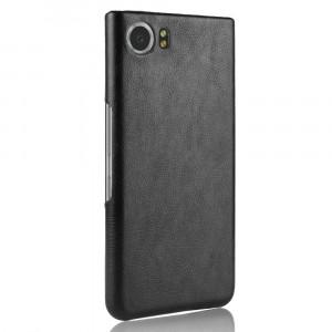 Чехол накладка текстурная отделка Кожа для BlackBerry KEYone Черный