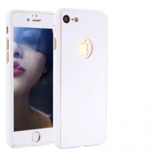 Пластиковый непрозрачный матовый сборный чехол с улучшенной защитой элементов корпуса для Iphone 6/6s Белый