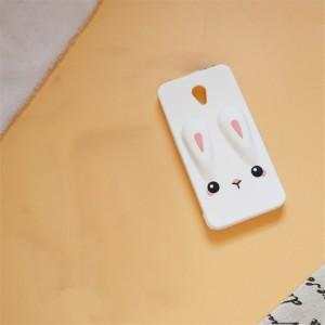 Силиконовый матовый непрозрачный дизайнерский фигурный чехол для Meizu M5 Белый