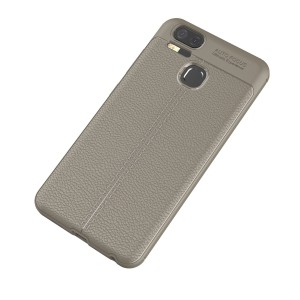 Силиконовый матовый непрозрачный чехол с текстурным покрытием Кожа для Asus ZenFone 3 Zoom Коричневый