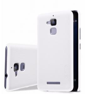 Пластиковый непрозрачный матовый нескользящий премиум чехол для Asus ZenFone 3 Max Белый