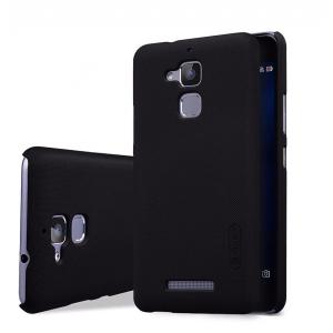 Пластиковый непрозрачный матовый нескользящий премиум чехол для Asus ZenFone 3 Max Черный