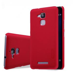 Пластиковый непрозрачный матовый нескользящий премиум чехол для Asus ZenFone 3 Max Красный