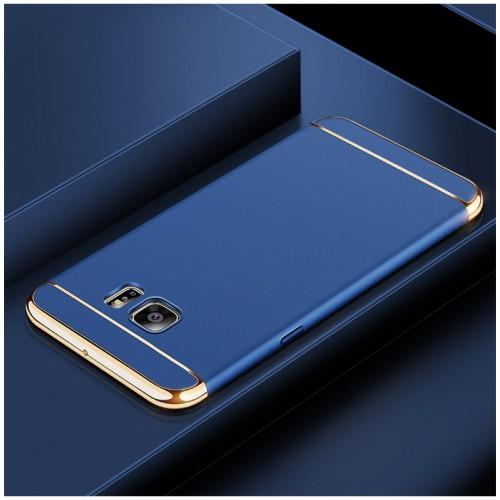 Пластиковый непрозрачный матовый чехол сборного типа для Samsung Galaxy S6 Edge