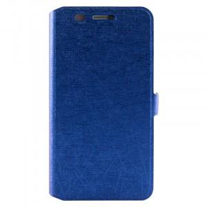 Чехол флип подставка текстура Линии на силиконовой основе для Huawei Honor 4X Синий