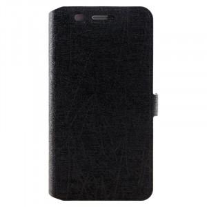 Чехол флип подставка текстура Линии на силиконовой основе для Huawei Honor 4X Черный