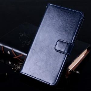 Глянцевый водоотталкивающий чехол портмоне подставка с отсеком для карт на магнитной защелке для Iphone 7 Plus/8 Plus Синий