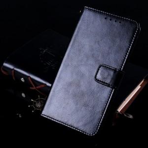 Глянцевый водоотталкивающий чехол портмоне подставка с отсеком для карт на магнитной защелке для Iphone 7 Plus/8 Plus Черный