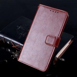 Глянцевый водоотталкивающий чехол портмоне подставка с отсеком для карт на магнитной защелке для Iphone 7 Plus/8 Plus Коричневый