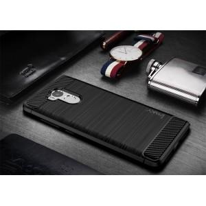 Силиконовый матовый непрозрачный чехол с текстурным покрытием Металлик для Xiaomi RedMi 4 Pro Черный