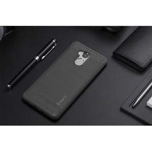 Силиконовый матовый непрозрачный чехол с текстурным покрытием Металлик для Xiaomi RedMi 4 Pro Серый