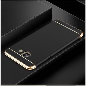 Пластиковый непрозрачный матовый чехол сборного типа с улучшенной защитой элементов корпуса для Samsung Galaxy A5 (2016)