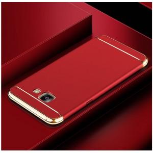 Пластиковый непрозрачный матовый чехол сборного типа с улучшенной защитой элементов корпуса для Samsung Galaxy A5 (2016) Красный