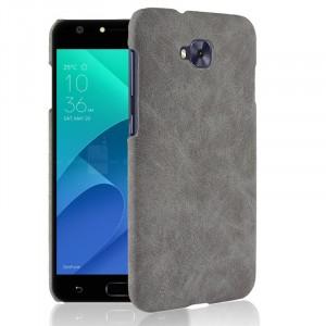 Чехол накладка текстурная отделка Кожа для ASUS ZenFone 4 Selfie Серый