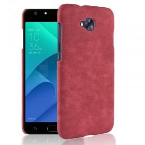 Чехол накладка текстурная отделка Кожа для ASUS ZenFone 4 Selfie Красный