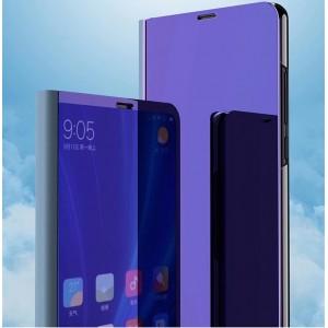 Пластиковый непрозрачный матовый чехол с полупрозрачной крышкой с зеркальным покрытием для Samsung Galaxy S5 (Duos)