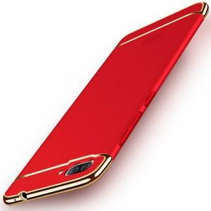 Пластиковый непрозрачный матовый чехол сборного типа для Asus ZenFone 4 Max Красный