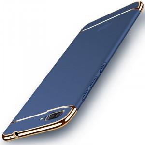 Пластиковый непрозрачный матовый чехол сборного типа для Asus ZenFone 4 Max Синий
