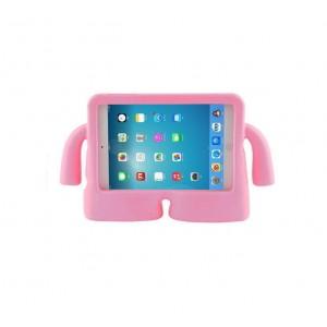 Детский ультразащитный гиппоаллергенный силиконовый фигурный чехол для планшета Ipad Mini 1/2/3 Розовый