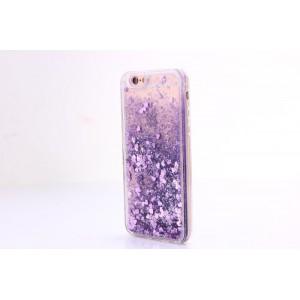 Силиконовый глянцевый полупрозрачный чехол c внутренней аква-аппликацией для Iphone 7/8 Фиолетовый