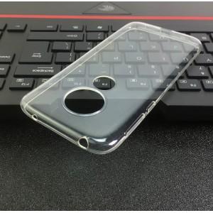 Силиконовый глянцевый транспарентный чехол для Motorola Moto G7 Play