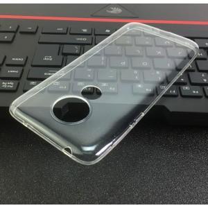 Силиконовый глянцевый транспарентный чехол для Motorola Moto G7 Power