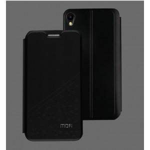 Чехол горизонтальная книжка подставка текстура Узоры на силиконовой основе для Asus ZenFone Live Черный