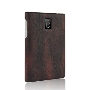 Чехол накладка текстурная отделка Дерево для Blackberry Passport Черный